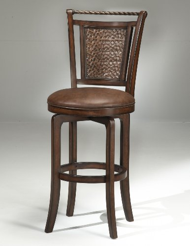 Hillsdale Norwood 26.5 in. Hammered Copper Back Swivel Counter Stool