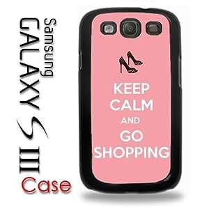 Samsung Galaxy S3 Plastic Case - Keep Calm and Go Shopping Pink Cute