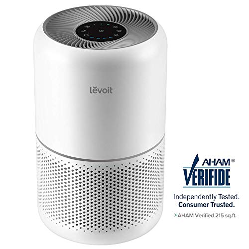 LEVOIT Air Purifier for Home Allergies and Pets Hair Smokers in Bedroom, True HEPA Filter, 24db Filtration System Cleaner Odor Eliminators, Remove 99.97 Smoke Dust Mold Pollen for Large Room,Core 300