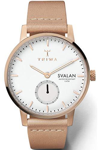Triwa svalan Womens Analog Japanese Quartz Watch with Leather Bracelet SVST104SS