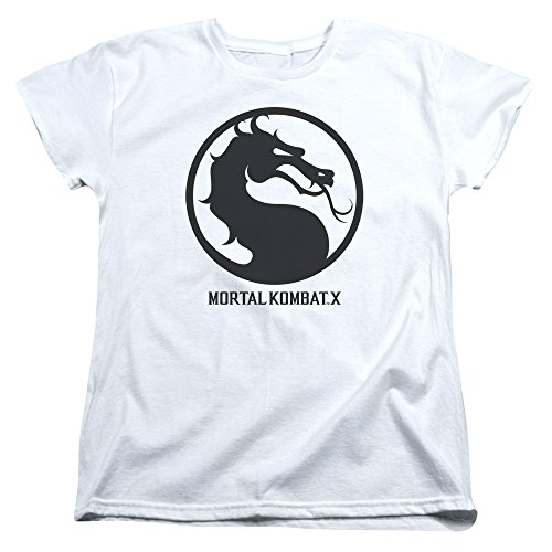 Mortal Kombat X Seal Womens Short Sleeve Shirt (White, Medium) (Women Of Mortal Kombat)