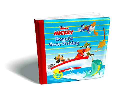 2009 Mickey Mouse - Disney Bath Time Bubble Book-Donald Duck Goes Fishing with Mickey Mouse and Goofy