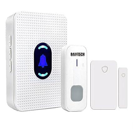 Wireless Door Open Chime Sensor Entrance Entry Alert Alarm Wireless Door  Bell For Home Retail Store