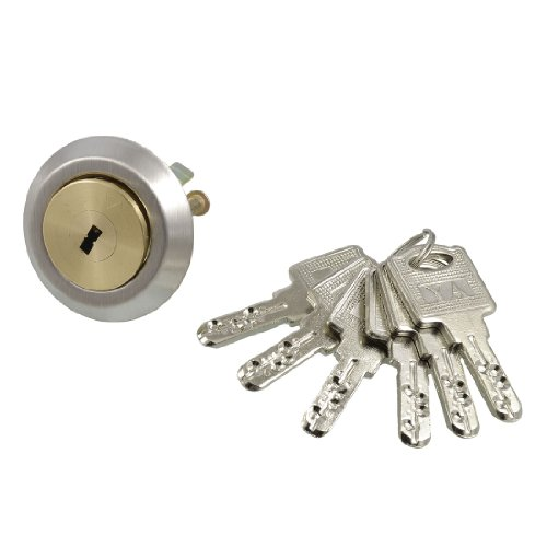 uxcell Gold Tone Plated Brass Double Screw Door Lock Cylinde