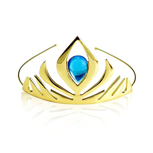 Kuzhi Frozen Queen Elsa Coronation Crown (Gold)]()
