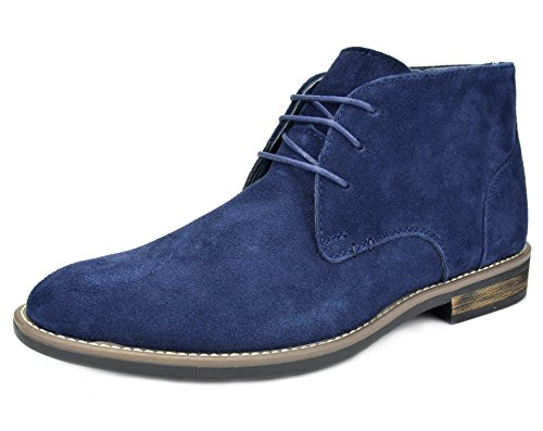 Lace Up Suede Jean - Bruno Marc Men's URBAN-01 Navy Suede Leather Lace Up Oxfords Desert Boots Size 12 M US
