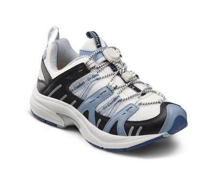 Dr. Comfort Women's Refresh X Blue Diabetic Athletic Shoes - White and Blue -9.0 X-Wide (XW/4E) White/Blue Lace US Woman