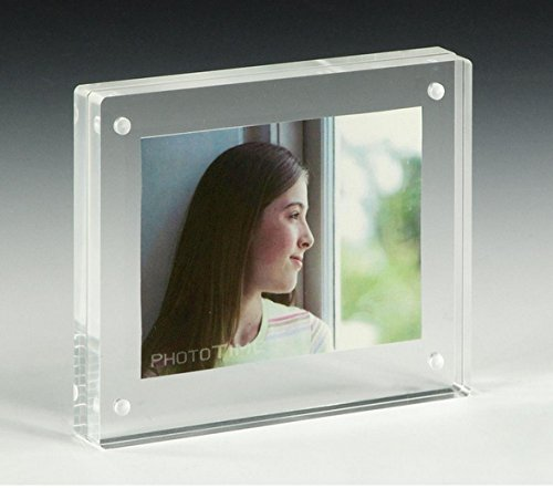 Unit of 24 3.5 x 5 Magnetic Picture Frame for Tabletop, Double Sided Box - Clear Acrylic 19183