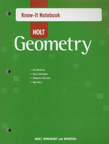 Holt Geometry: Know-It Notebook