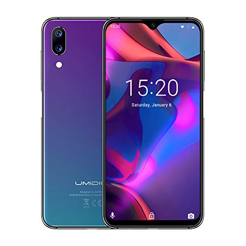 UMIDIGI One Max Factory Unlocked Smartphone, 4GB/128GB, 4150mAh Big Battery, 6.3 Waterdrop Full Screen, 12MP + 5MP Dual Camera,Dual SIM, Android 8.1 Cellphones,Wireless Charge & NFC Support(Twilight)