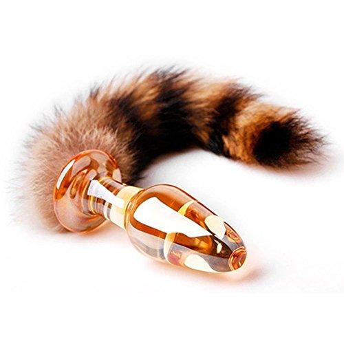 Mayli Crystal Glass A-n-a-l-s P-l-u-g with Tail, Fox A-n-a-l-s P-l-u-g B-u-t-t P-l-u-g Toys for Adults by Mayli