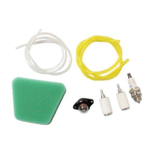 New Pack of 530037793 Air Filter 530095646 Fuel Filter 188-513 530071835 Primer Bulb Fuel Line Spark Plug Kits (Poulan Pro Fuel)