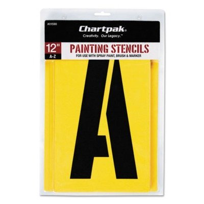 Painting Stencil Set, A-Z Set, Manila, 26/Set by CHARTPAK/PICKETT (Catalog Category: Paper, Pens & Desk Supplies / Art & Drafting / Stencils) by Chartpak