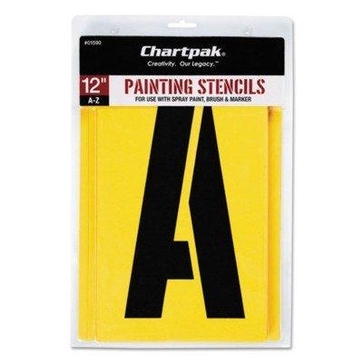 Painting Stencil Set, A-Z Set, Manila, 26/Set by CHARTPAK/PICKETT (Catalog Category: Paper, Pens & Desk Supplies / Art & Drafting / Stencils) by Chartpak by Chartpak
