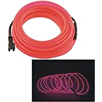 UXOXAS Auto Car 2M Long 7mm Dia Flexible EL Wire Neon Glow Strip Rope-(12V)