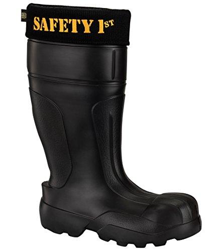 Leon Boots Co. Ultralight Men's Safety 1st EVA Non-Slip Boots, Size US 12-1/2, EU 46, Black by LBC Leon Boots Co (Image #5)