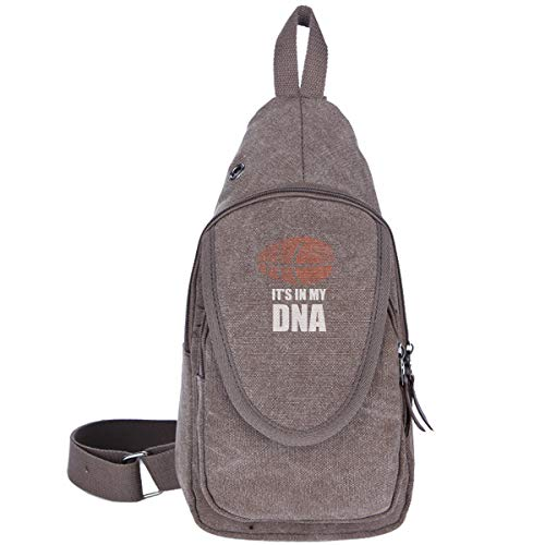Dna Small Sling - Basketball It's In May DNA Sling Bag Chest Fashion Shoulder Backpack Crossbody Bags For Men Women Gym