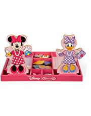 Save on Melissa & Doug Disney Minnie Mouse and Daisy Duck Magnetic Dress-Up Wooden Doll Pretend Play Set (45+ pcs)