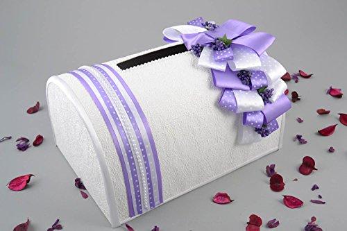 Beautiful white handmade designer wedding box for card and money engagement accessories