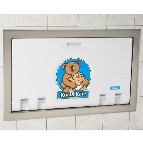 Koala Kare KB100-05ST Baby Changing Station, Recess Mounted Horizontal Plastic w/Stainless Steel Flange - White Granite by Koala Kare
