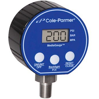 COLE-PARMER INSTRUMENTS Digital Pressure Gauge, 0-30 psi,...