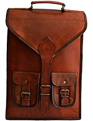 15 mens womens unisex Genuine leather vintage unique convertibale laptop backpack messenger bag and briefcase...