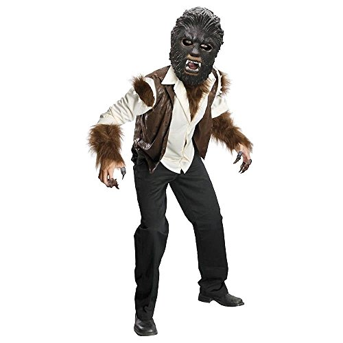 Wolfman Child's Deluxe Costume, Medium Wolfman Deluxe Mask