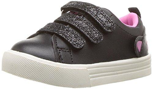 OshKosh B'Gosh Girls' Luana Sneaker, Black, 5 M US Toddler