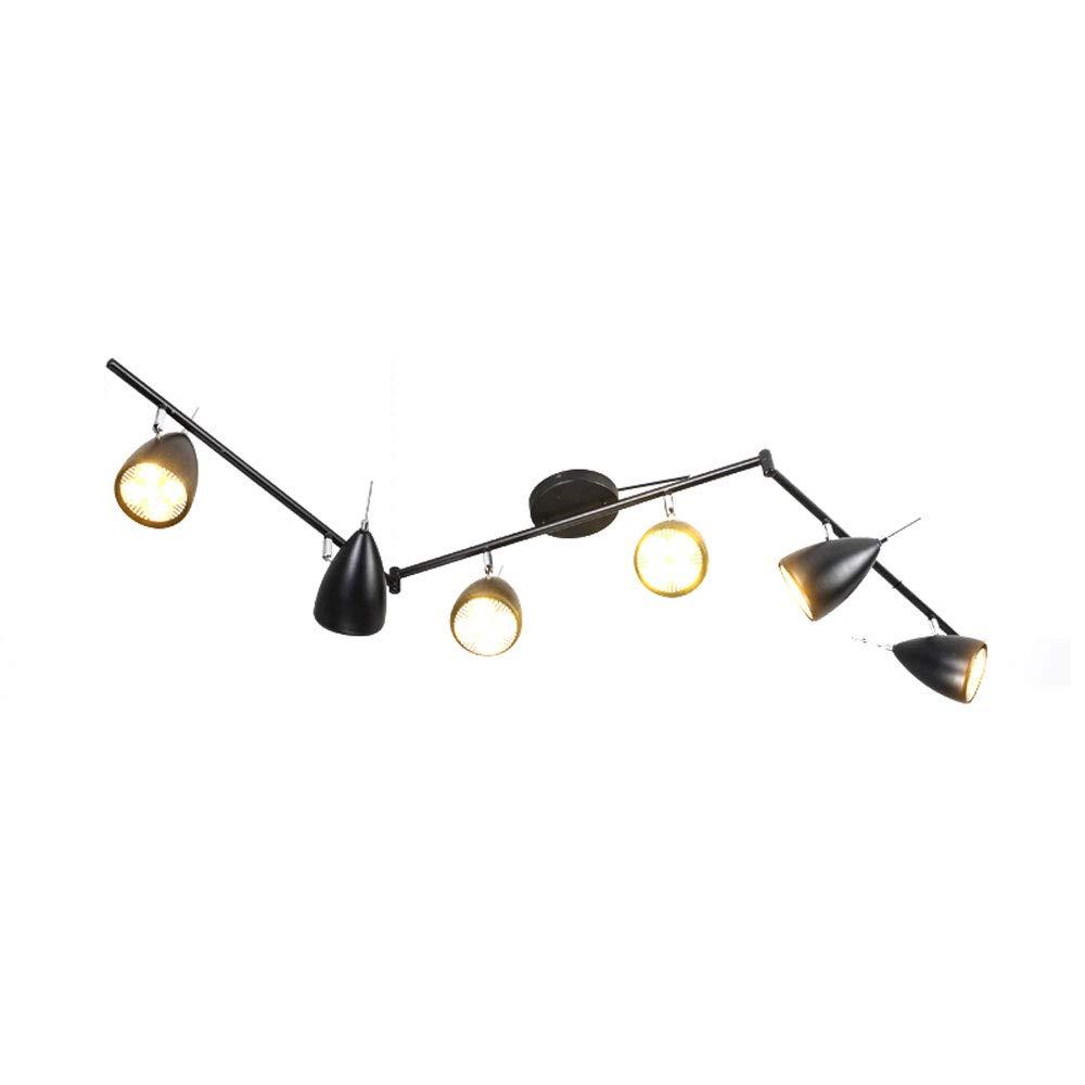 ZJⓇ Spotlight Track Light - 6-Light Adjustable LED Track Lighting Kit - Flexible Foldable Arms && (Size : White - 7cm in Diameter)