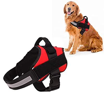 Bolux Dog Harness No-Pull Reflective Breathable Adjustable Pet Vest with Handle for Outdoor Walking- No More Pulling, Tugging or Choking