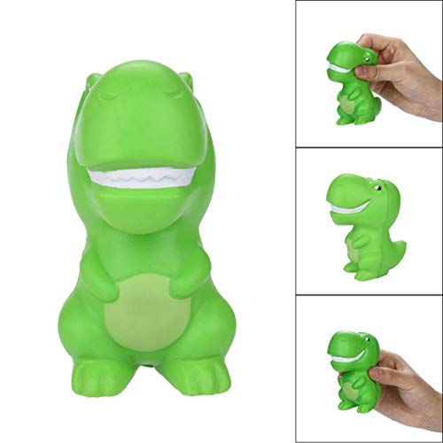 Squeeze Simulation Green Dinosaur Stress Ball Toy - Pausseo Hang Scented Slow Rising Squeezable Toys - Ideal for Stress Reliever & Anxiety Relief,Special Needs,Autism,Disorders & More - Color Random