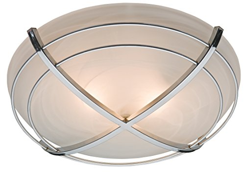 Bathroom Exhaust Fan and Light in Contemporary Cast Chrome (Renewed) ()