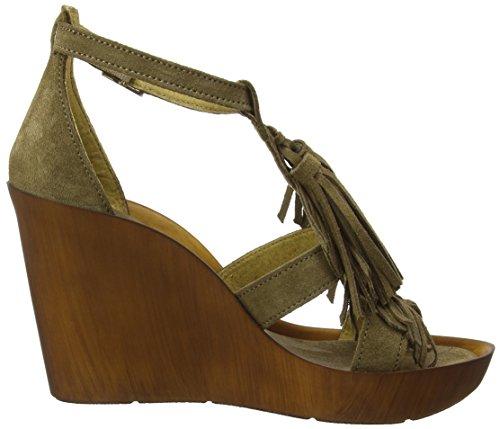 Bronx BX 888, Sandalias para Mujer Multicolor (Olive/Gold 1684)