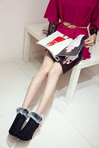A red Zip Adong Agli Fashion Tacco Tacchi Resistente Stivali Antiscivolo Fine Alti Grip Partito Womens Moda 34eu Stivaletti Per Black In Il Shopping Mano Lo O Suede Sttpq0