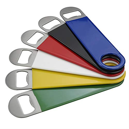 Anbers Rubber Coated Stainless Steel Flat Beer Bottle Opener Set of ()