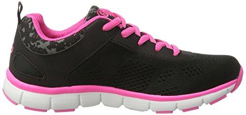 Bruetting Unisex-Erwachsene Cosmos Sneaker Schwarz (Schwarz/Pink)