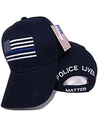 USA Memorial Blue Line Police Lives Matter Black Cap Hat