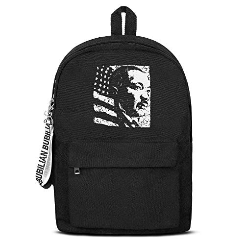 Black History Month Martin Luther King Jr. Backpack,Classic Water Resistant Convas Computer Bag for Women & Men ()