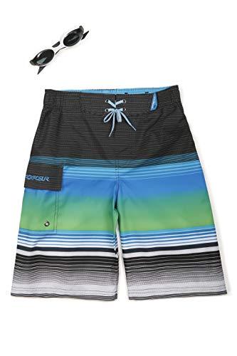 (ZeroXposur Boys Rip Cord Swim Trunk Shorts Deep Aqua XL-14/16)