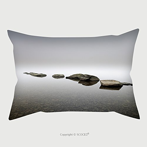 Cheap  Custom Microfiber Pillowcase Protector A Group Of Boulders Leading In To The..