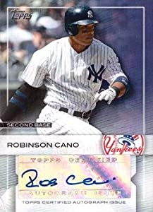 2009 Topps Uncirculated Autographs #8 Robinson Cano Certified Autograph Baseball Card - Near Mint to Mint