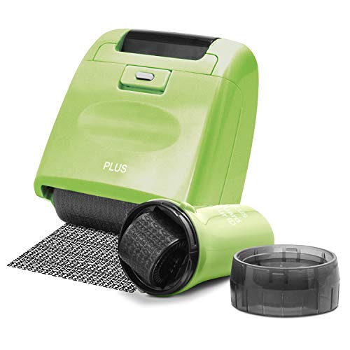 Guard Your ID Identity Theft Prevention Security Stamp Wide Roller Security Stamp Kits (Green)