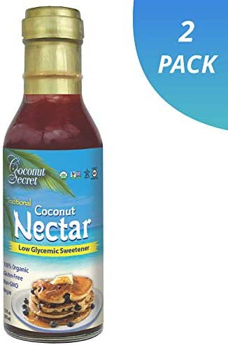 Coconut Secret Coconut Nectar (2 Pack) - 12 fl oz - Natural, Low-Glycemic Liquid Sweetener, Agave Syrup Alternative - Organic, Vegan, Non-GMO, Gluten-Free - 48 Total Servings