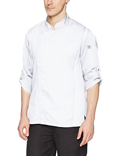 Chef Works Men's Hartford Chef Coat, White, Medium by Chef Works