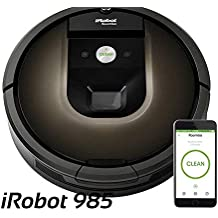 2018 Roomba 985 Robot Vacuum with Wi-Fi Connectivity, Compatible with Alexa, Ideal for Pet Hair, Carpets, Hard.