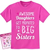 Tstars - Awesome Daughters Get Promoted to Big Sisters Gift Idea Kids T-Shirt Medium Pink