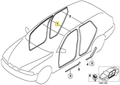 Joint de porte avant authentique X5 Series E53 pour c/ôt/é gauche ou droit 7025579 OEM
