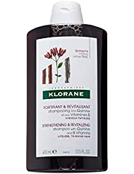Klorane Shampoo with Quinine and B Vitamins for Thinning Hair, Support Thicker, Stronger, Healthier Hair, Men & Women, 13.5 oz.