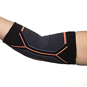 Kunto Fitness Elbow Brace Compression Support Sleeve for Tendonitis, Tennis Elbow, & Golf Elbow Treatment - Reduce Joint Pain During ANY Activity! (Extra Small)