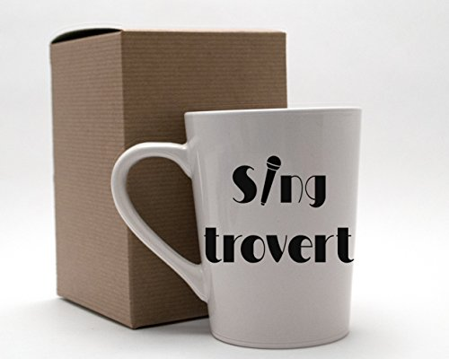 [Singtrovert Music Lover Karaoke Singer 14oz White Mug for Introverts Extroverts and Ambiverts] (Nerd Costume Ideas Pinterest)